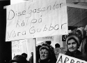 Kvinnor demonstrerar i Malmberget 1970
